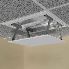 Diy Projector Mount Drop Ceiling by Awesome Way To Hide A Projector Screen I Wonder If I Could Find A