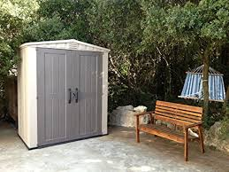 6 X 6 Wood Storage Shed by Keter Factor Plastic Outdoor Garden Storage Shed Fade Free 6 X 3