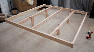 diy king platform bed frame quick woodworking projects with