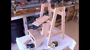 folding step stool part 2 optional jointery youtube