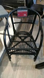 armlehnstuhl gislinge rattan schwarz lackiert