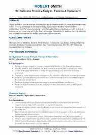 Business Process Analyst Resume Example Requirements Document Template Free