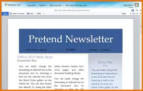 word 2010 newsletter templates beginner using templates in ms
