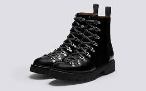 Womens Work And Safety Shoes by Brady Men U0027s Ski Boot In Black Colorado Leather And Black Suede