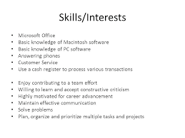 Key Skills For Resume Examples Of To Put On A