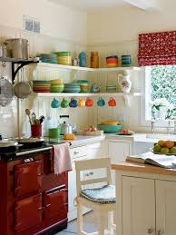 Small Corner White Kitchen Set Ideas Open Cabinets Storage In The Closed