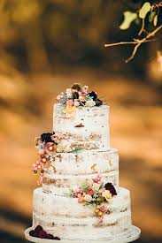 Rustic Un Iced Wedding Cake