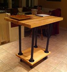 stunning rolling kitchen island table with butcher block