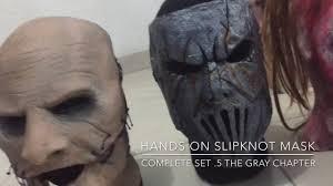 Slipknot Halloween Masks 2015 by Hands On Slipknot Mask Complete Set 5 The Gray Chapter Youtube