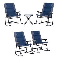 Details About 2PC/3PC Folding Outdoor Rocking Chair Table Set Oxford Garden  Bistro Set Camping