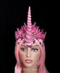 Unicorn Crown Burning Man Pink Crystal