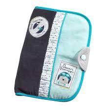 lazare protège carnet de santé bleu de sauthon baby déco protèges