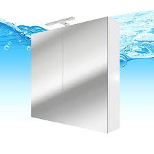 spiegelschrank badspiegel badezimmer spiegel city 100 80cm weißl ja mit 1x 5w led strahler