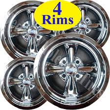 100 Chrome Truck Wheels 4 Mini Rims 12X7 44 4100 Cragar Aluminum