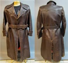 authentic german vintage 1940 u0027s men u0027s distressed horsehide leather