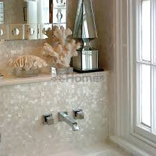 20mm square white shell mosaic tiles seamleass of