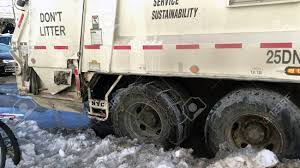 100 Sanitation Truck BRONX NEW YORK MARCH 14 Wheel Of With Chains