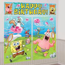 Halloween Scene Setters 2017 by Spongebob Scene Setter Decoration Set Birthdayexpress Com