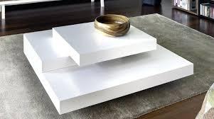 table basse blanc laquac et bois table basse laque blanc design