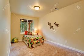 100 Decorated Wall Simple Room For Kids With Single Bed Toys And Stock