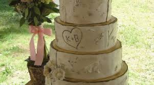 Pictures Rustic Birch Tree Wedding Cake With Fondant Owl Topper