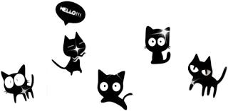 daorier kreatives design schwarz acrylic karikatur katzen