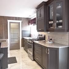armoires de cuisine de mélamine polyester avec armoires vitrées