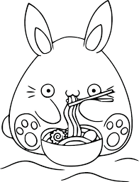 Kawaii Coloring Pages Book And Image Ideas Medium Size Of Bunny Food