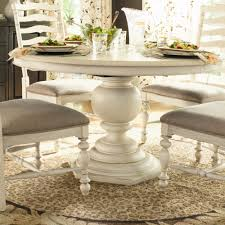 5 Piece Oval Dining Room Sets by Paula Deen Home Paula U0027s Round Pedestal Dining Table In Linen For