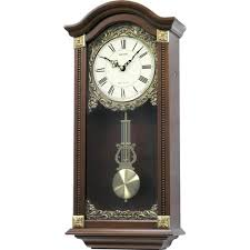 Rhythm Large Deluxe Wooden Pendulum Wall Clock