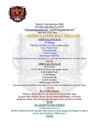 Bbq Pit Sinking Spring by Muddy U0027s Smokehouse Bbq Oley Home Oley Pennsylvania Menu