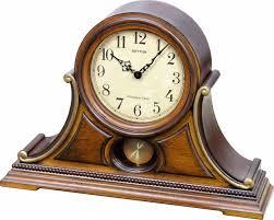 Bulova Table Clocks Wood by Wsm Tuscany Ii Mantel Clock By Rhythm Holiday Chimes