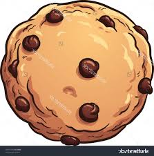Chocolate Chip Cookie Drawing Free Stock Vector Cookies With Chocolate Chips Many Shapes Design