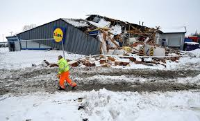 siege lidl eight charged after looters bulldoze lidl supermarket during beast