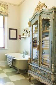 French Shabby Chic Bathroom Ideas by Shabby Chic Bathroom Furniture Curved Brown Wooden Bath Vanity