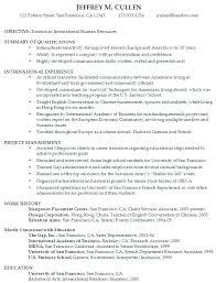 College Freshman Resume Examples Student Samples