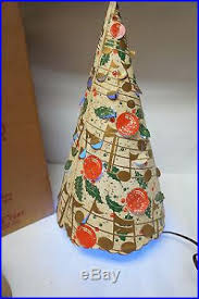 VINTAGE MOTION LAMP ECONOLITE MERRIE CHRISTMAS TREE LIGHT 1950s WITH BOX