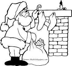Santa Coloring Page Christmas Book Pictures To Color Online