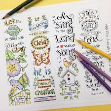 INSTANT DOWNLOAD Garden Blessings Adult And Childrens Christian Coloring Book Bible Journaling Scripture Religious Digital Printable