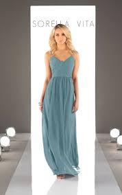 chiffon floor length bridesmaid dress sorella vita