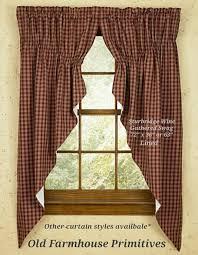 Primitive Living Room Curtains by Sturbridge Wine Primitive Curtains