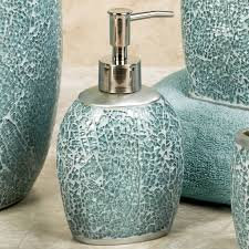 Beach Glass Bath Accessories by Bathroom Best 5 Piece Blue Bathroom Accessories With Chrome