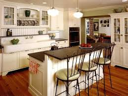 Cream Kitchen Flooring Ideas Wooden Bar Stool Wall Paint Islands With Seating Silver