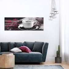 kaffee leinwand bild kunstdruck küche modern wand bilder