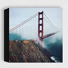 card san francisco golden gate bridge moderne kunstdruck holzbilder deko für wohnzimmer schlafzimmer oder als geschenk idee zum hinstellen
