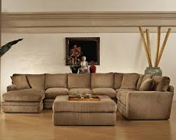 living room decor with dark brown sectional interior design