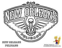 Boston Celtics Logo Coloring Page Basketball Team Printable NBA New Orleans Pelicans