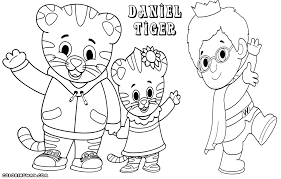Daniel Tiger Colouring Page
