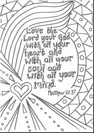 Astonishing Bible Verse Coloring Pages With Page And Verses