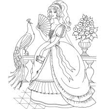 Princess Coloring Book Pages Photo